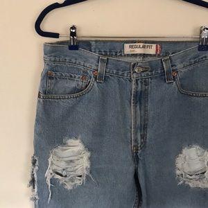 Levi's Regular Fit Distressed Boyfriend Jeans